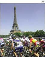 Tour de France riders approach Paris