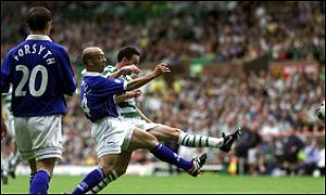 Paul Lambert scores Celtic's third of the afternoon
