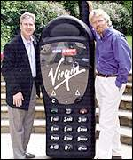 Launch of Virgin Mobile with One2One managing Director, Tim Staples, and Richard Branson