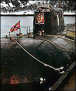 The submarine Kursk