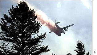 Plane dumping chemicals