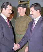 Saddam and Qusay Hussein