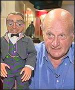 Thunderbirds creator Gerry Anderson with Parker