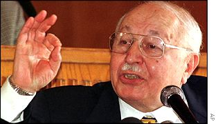 Welfare Party former leader and prime minister Necmettin Erbakan