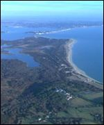 Dorset coast from air BBC