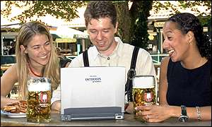 Germany's first internet beer-garden