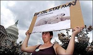 Anti-drilling protester