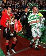 Ryan Giggs and Celtic's Tommy Boyd