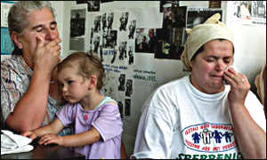 relatives of Srebrenica survivors