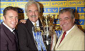Ally McCoist, Des Lynam and Terry Venables