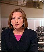 Anna Ford reading the BBC's One O'Clock News
