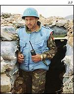 Indian UN peacekeeper near Shebaa farms