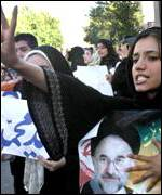 Khatami supporters hail his victory in June
