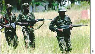 Nigerian soldiers on peacekeeping duty