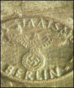 Bar of gold with Nazi stamp
