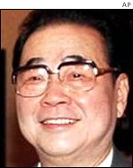 Chairman of the Chinese Parliament, Li Peng