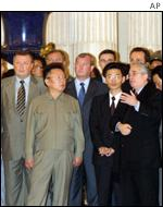 Kim Jong-il at St Petersburg's Hermitage Museum