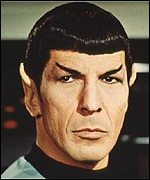 Star Trek's Mr Spock, played by Leonard Nimoy