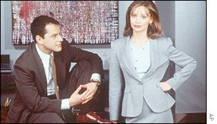 Calista Flockhart and Gil Bellows star in the Fox series, Ally McBeal
