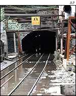 Recent but undated photo of the flooded exit of the Lajiapo mine