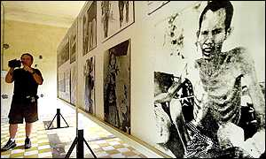 The former S-21 prison now houses pictures of the victims of the Khmer Rouge