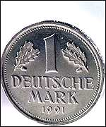 One mark coin