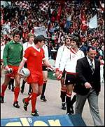 Liverpool and Manchester United contested the 1977 Charity Shield