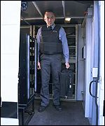 Group 4 Falck security guard in Belgium
