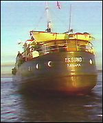 The Eskund gun-running ship, seized in 1987