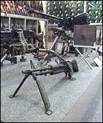 A machine gun seized from the IRA