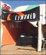Cymuned tent at the eisteddfod