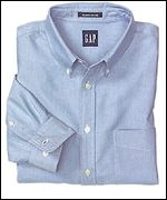 Gap blue button down shirt