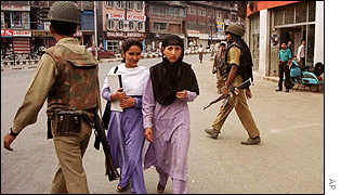 Women walking in Srinagar