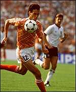 Marco Van Basten in action against England