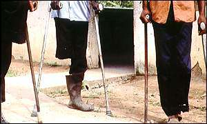 Landmine victims in Angola