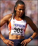Kelly Holmes at the World Championships