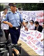 South Koreans protest outside prime minister's residence in Tokyo