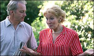 Neil and Christine Hamilton outside their Cheshire home