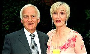 John Thaw with wife Sheila Hancock