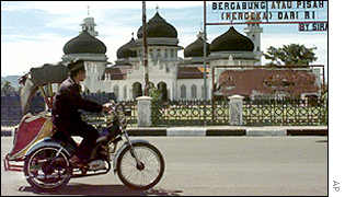 Street in Aceh province