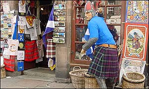 Shop front on Royal Mile