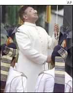 Pakistani President Pervez Musharraf at his Independence Day ceremony
