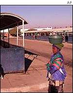 Bus terminals across the country were deserted