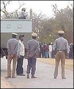 Police monitor crowds of Zanu PF youths