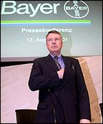 Bayer chief executive Manfred Schneider