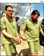 Arrested white Zimbabwe farmers