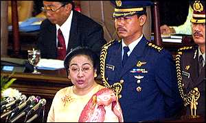 Megawati addresses parliament