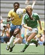 Josimar (l) scored a brilliant goal against Northern Ireland