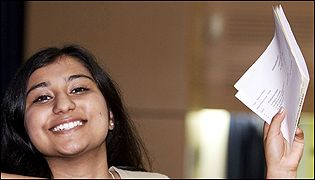 Pallavi Mishra celebrates three A grade A levels