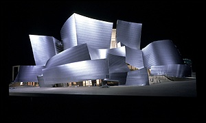 A plan of the Walt Disney concert hall in Los Angeles, photo by Whit Preston
